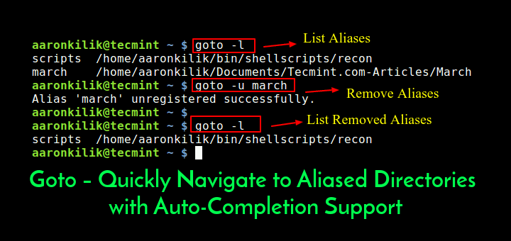 Goto - Aliased Directories with Auto-Completion