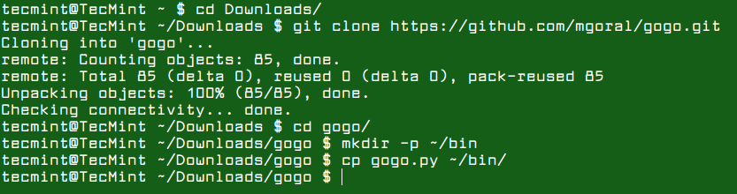 Install Gogo in Linux
