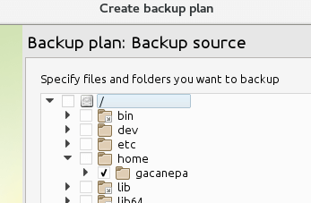 Select Backup Location