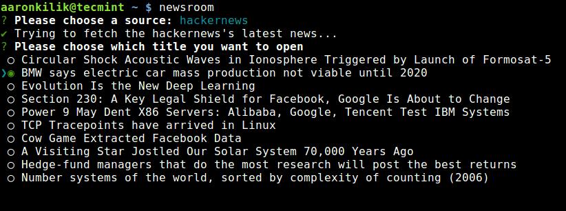 Select News Source