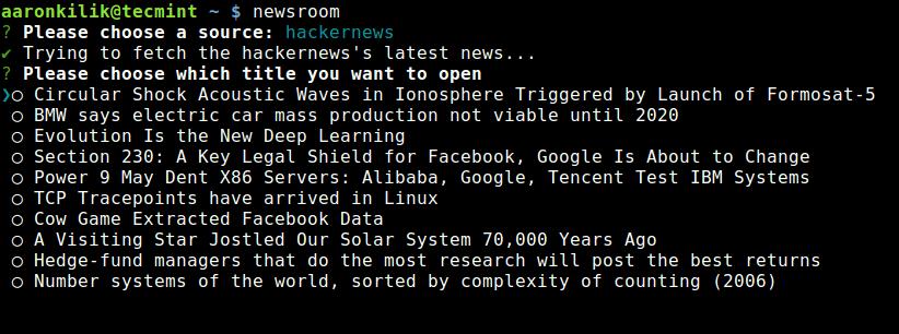 Select News Topic