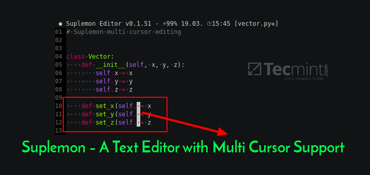 Suplemon - Text Editor with Multi Cursor Support