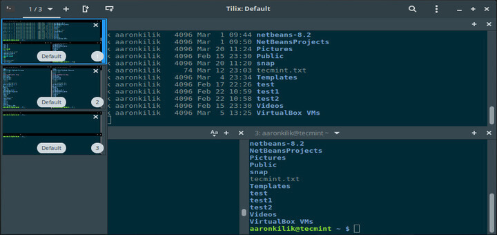 Tilix - A New GTK 3 Tiling Terminal Emulator for Linux