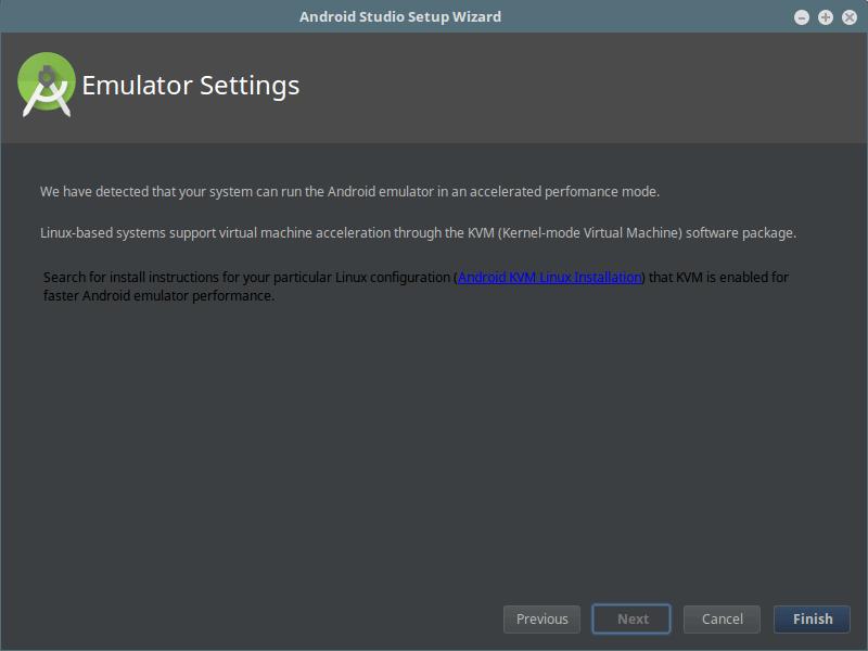 Android Studio Emulator Settings