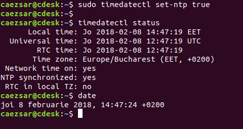 Check Linux System Time