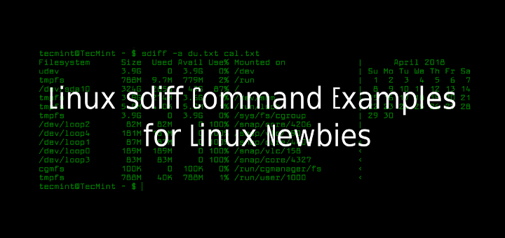Linux sdiff Command Examples