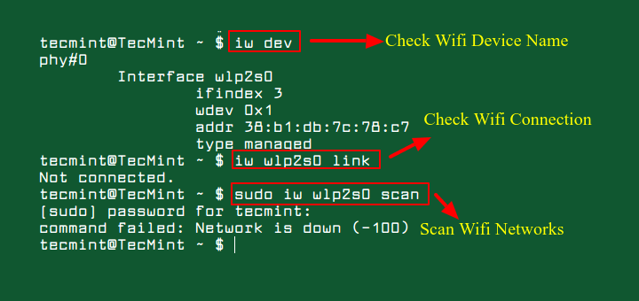 Nmcli Connect Wifi from Linux Terminal
