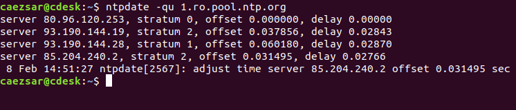 Query NTP Server