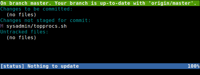 Show Git Repository Status