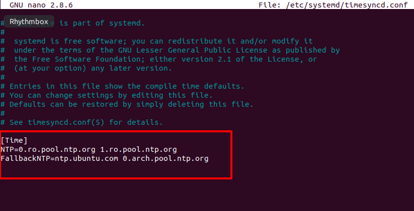 Ntp not updating rhel