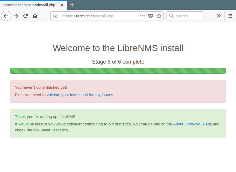 Validate LibreNMS Install