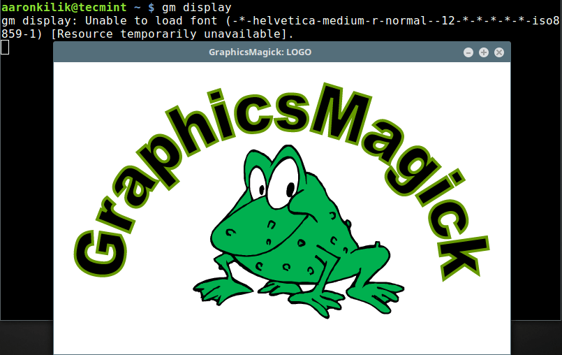 Verify GraphicsMagick Installation