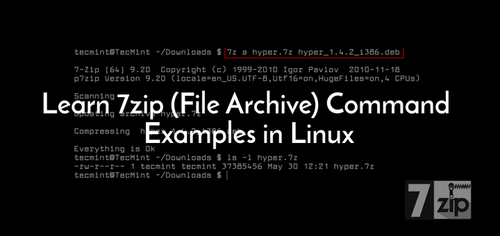 7zip Command Examples in Linux