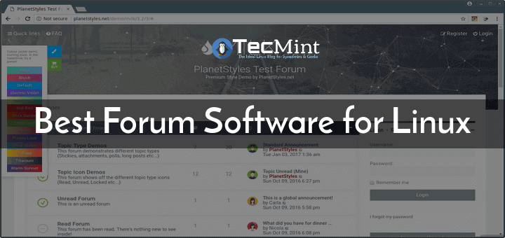 Best Linux Forum Software