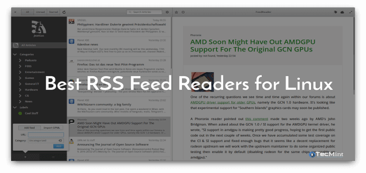 Best RSS Feed Readers for Linux