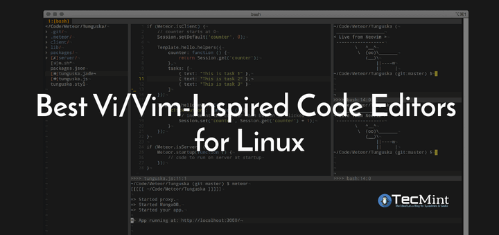 Best Vim Inspired Code Editors