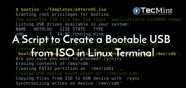 Create Bootable USB in Linux Commandline