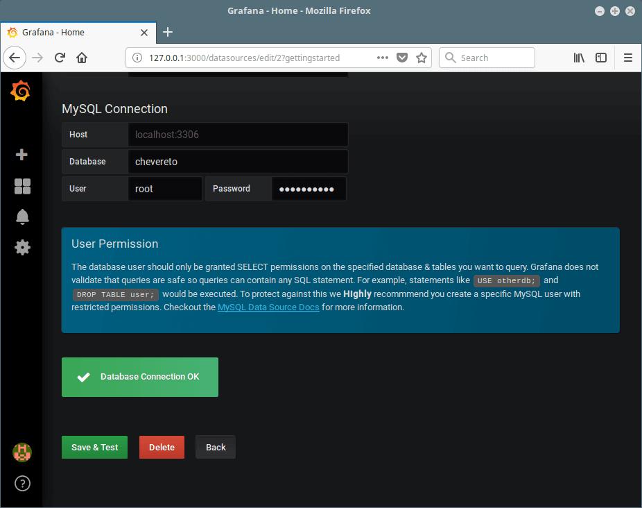 Grafana Data Source Connection