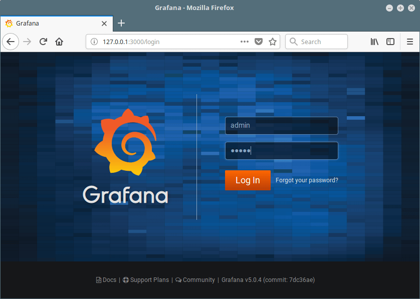 Grafana Admin Login