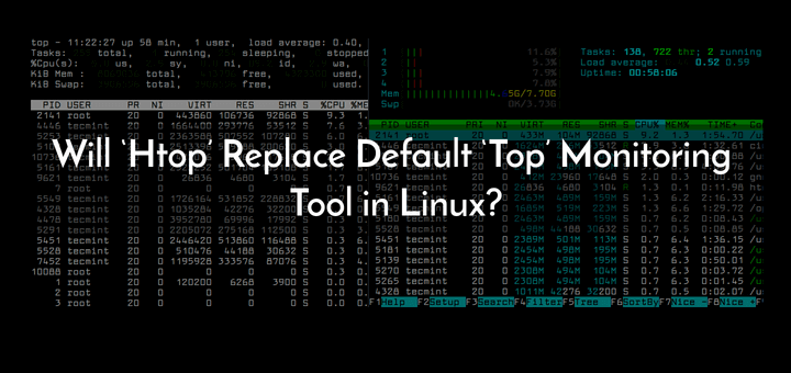 Htop vs Top in Linux