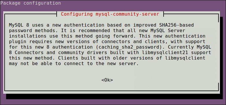 MySQL Authentication Configuration