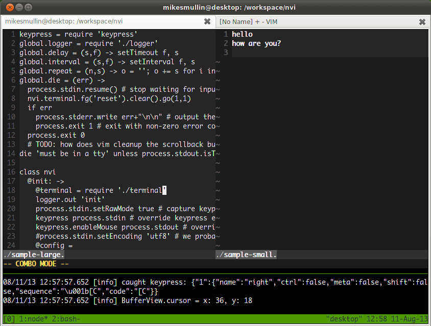 Nvi Vi-Like Text Editor for Linux