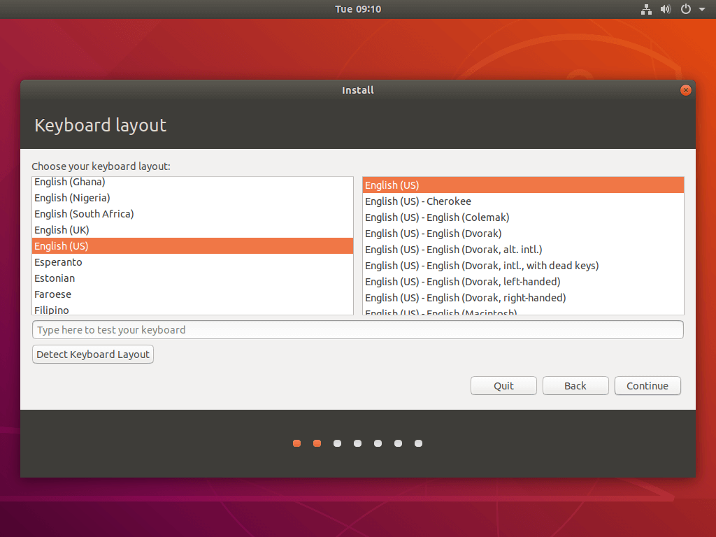 Select Ubuntu Keyboard Layout