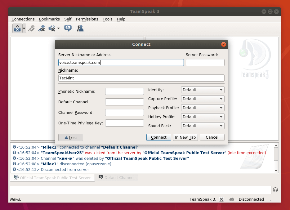 how to create a teamspeak server ubuntu