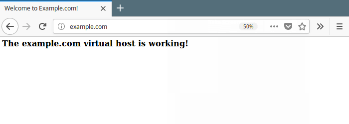 Test VirtualHost Website