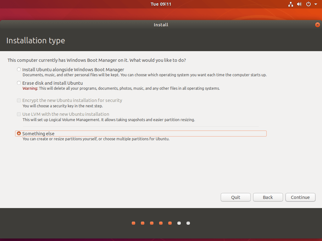 Ubuntu Manual Partition