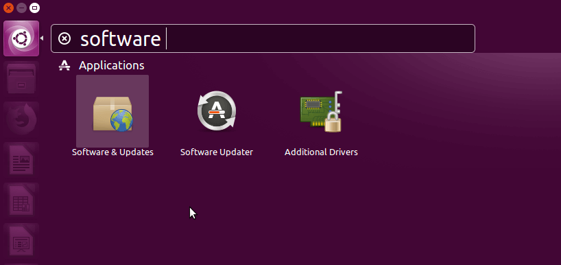 Ubuntu Software and Updates