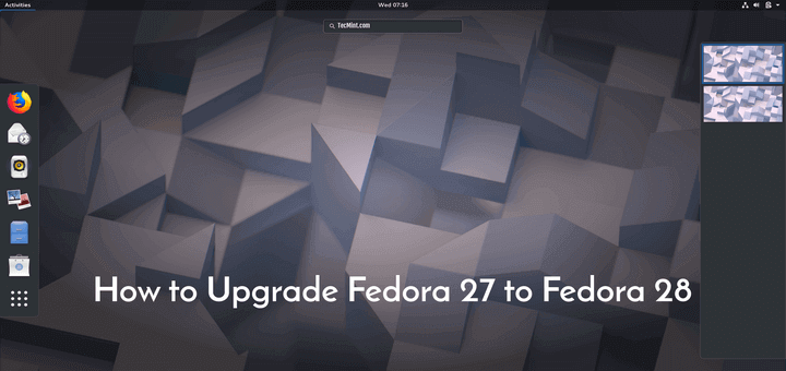 Upgrade Fedora 27 to Fedora 28