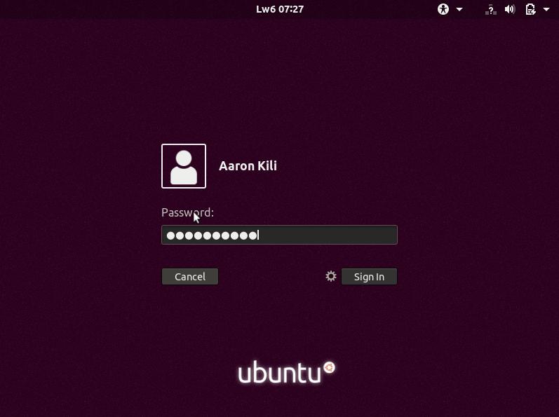 Ubuntu 18.04 Login
