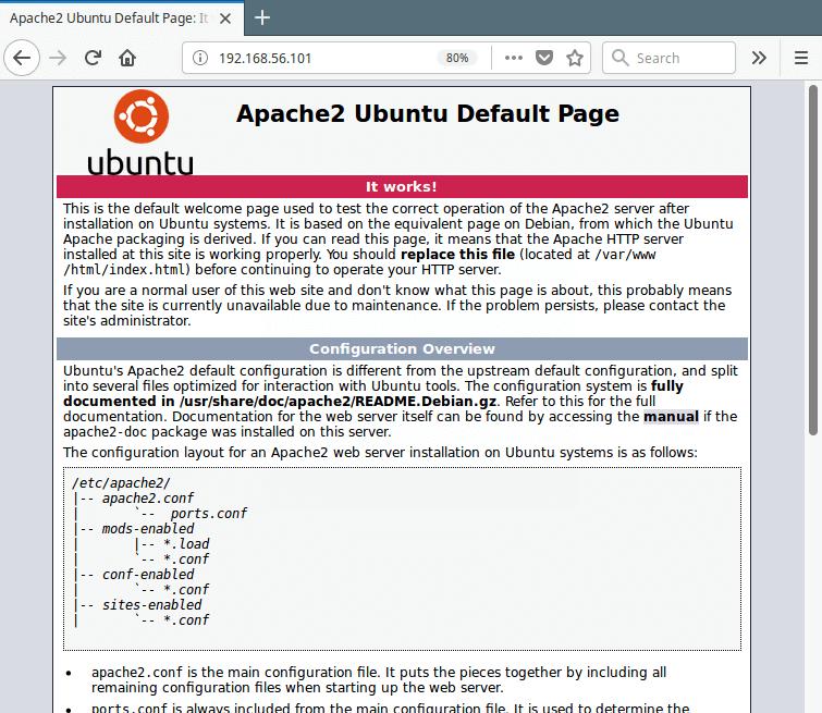 Check Apache Web Page