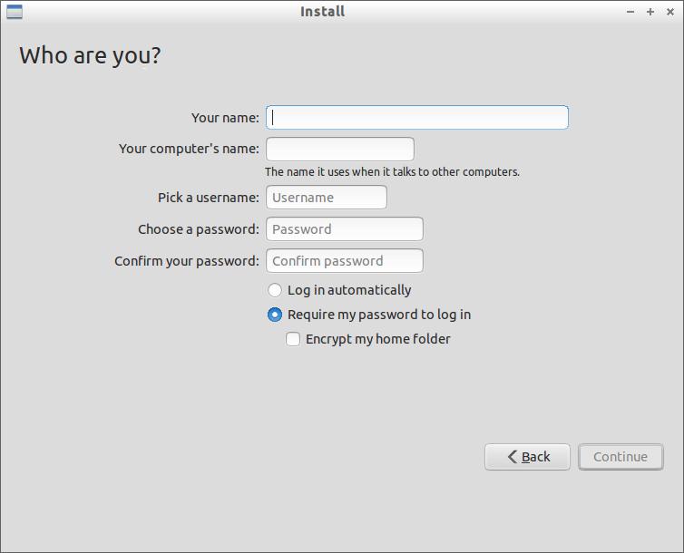 Create Lubuntu User
