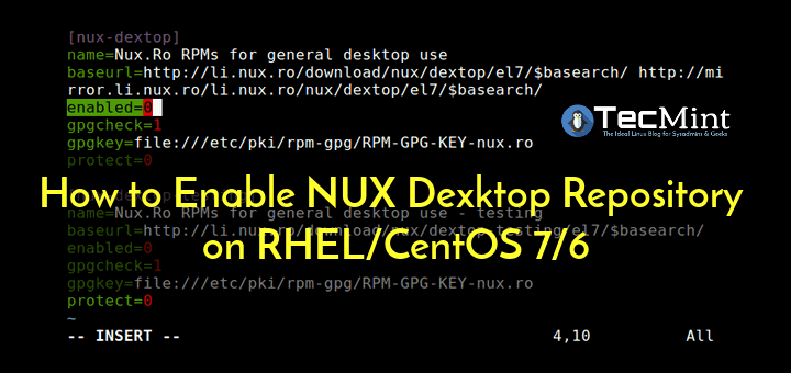 Enable NUX Dexktop Repository on CentOS