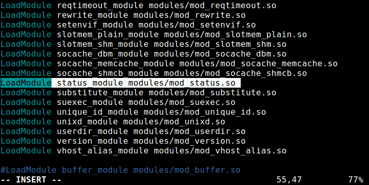 Enable Mod_Status Module in Apache