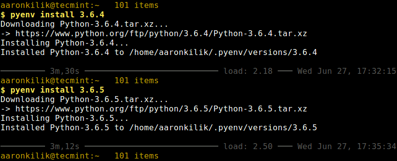 Install Multiple Python Versions