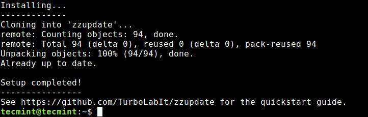 Install zzUpdate in Ubuntu
