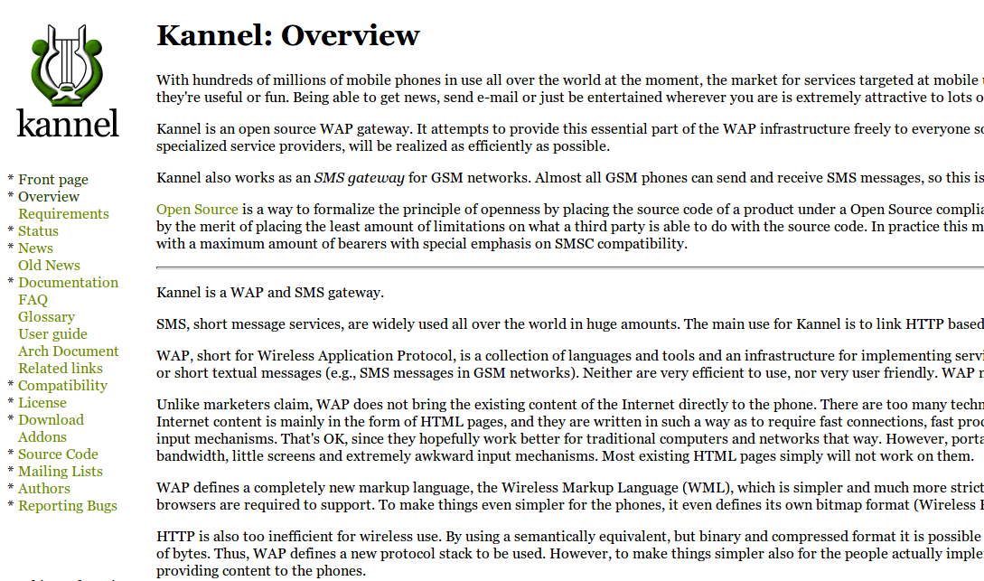 Kannel WAP and SMS Gateway