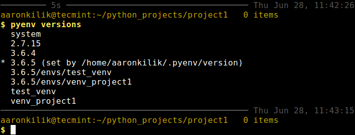 List Python Versions