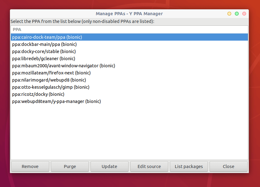 Manage PPAs in Ubuntu
