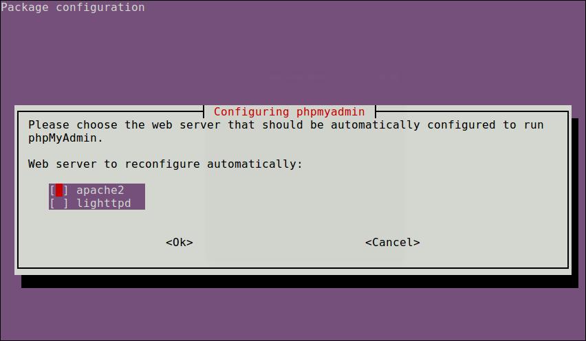 Select PhpMyAdmin Web Server