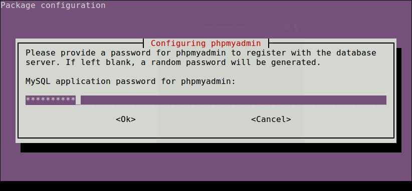 Set Password for Phpmyadmin