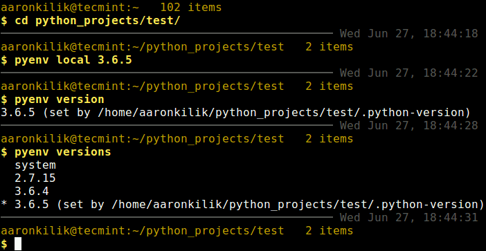 Set Python Version for Project