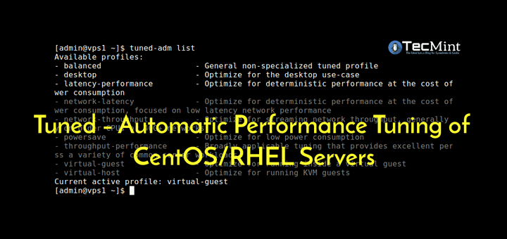 Tuned CentOS Performance Tuning