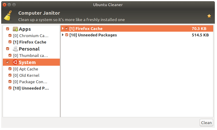 Ubuntu System Cleaner