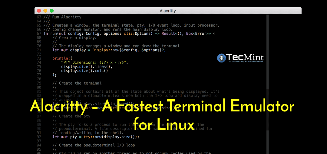 Alacritty Terminal Emulator for Linux