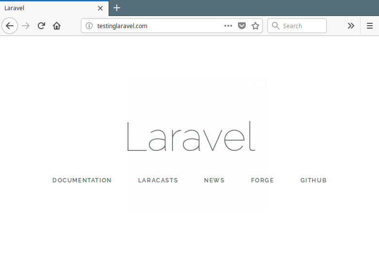 Check Laravel Installation