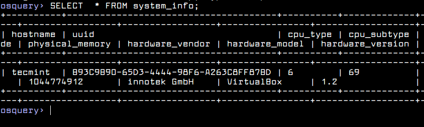 Get Linux System Info